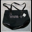 Liz Claiborne Black Mosiac Heritage Bag Purse New NWT