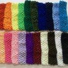 Girls Stretchy Crochet Headband 1.5 inch Pick 1 Color
