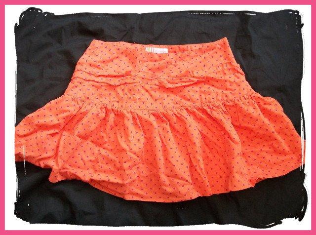 Girls Orange & Pink Cute Summer Cotton Skirt RG M 7 8