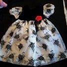 C.I. Castro Girl Gorgeous Black White Floral Dress 2 2t