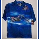 Orange County Choppers Boys Blue Shirt M Medium NWT New
