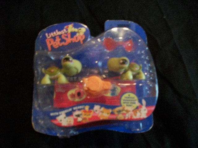 Littlest Pet Shop Twin Turtles HTF Mint New Toy Gift