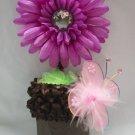 Baby Girls Flower Diaper Bow Cupcake Cake Headband Gift