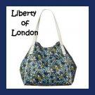 LIBERTY Of LONDON Blue Jennifer Flowers Bag Tote NWT