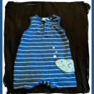 Baby Boys Moonbeams Embroidered FISH Blue Romper 3 6 6m