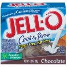 Jell-o Jello Chocolate Sugar Free & Fat Free Cook & Serve Pudding & Pie Filling