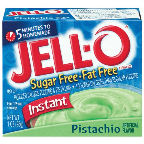 Jell-o Jello Instant Pistachio Sugar Free & Fat Free Pudding & Pie Filling, 1 Oz