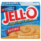 Jell-o Jello Instant Butterscotch Sugar Free & Fat Free Pudding & Pie Filling, 1 Oz