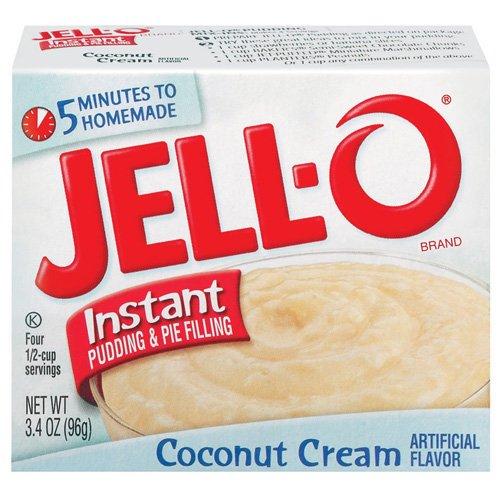 Jell-o Jello Instant Coconut Cream Pudding & Pie Filling, 3.4 Oz