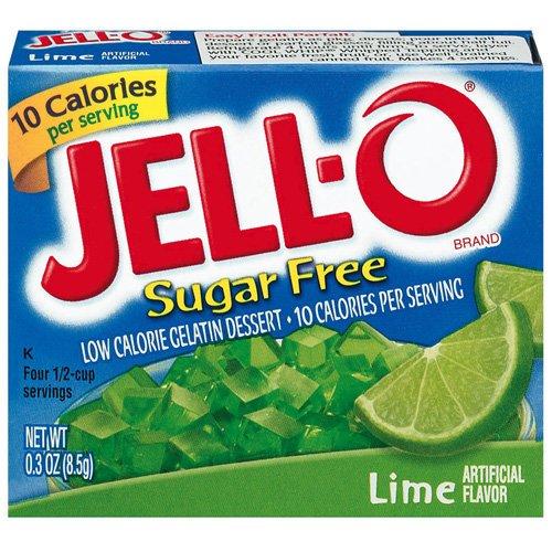 Jell-o Jello Sugar Free Lime Low Calorie Gelatin Dessert, .3 Oz