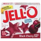 Jell-o Jello Black Cherry Gelatin Dessert, 3 Oz