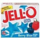 Jell-o Jello Berry Blue Gelatin Dessert, 3 Oz