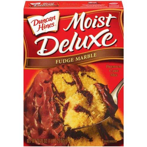 Duncan Hines Moist Deluxe Fudge Marble Cake Mix, 18.25 oz