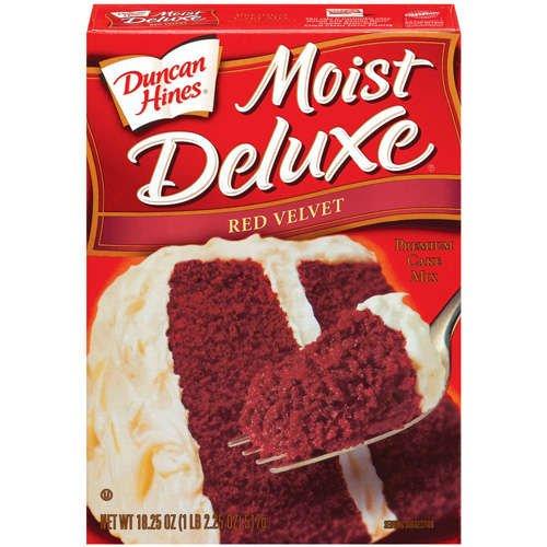 Duncan Hines Moist Deluxe Red Velvet Cake Mix, 18.25 oz