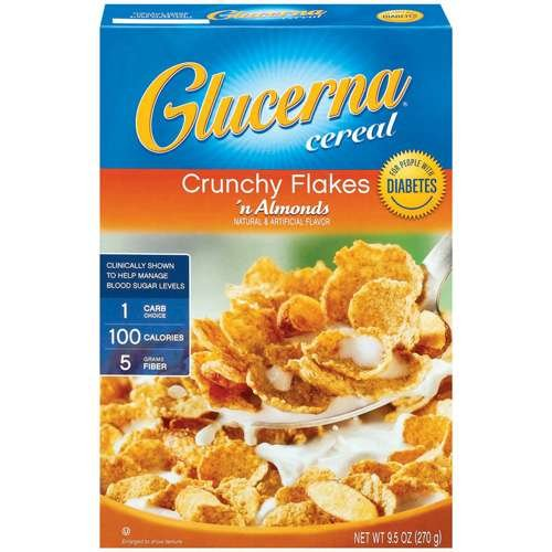 Glucerna Crunchy Flakes 'n Almonds Cereal, 9.5 Oz