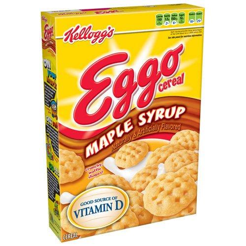Kellogg's Eggo Maple Syrup Crunchy, Waffle Shapes Cereal, 9.40 oz