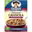 Quaker Natural Granola Oats Honey & Raisins Cereal, 28 Oz