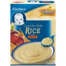 Gerber Fruit Cereals Rice w/Apples Cereal For Baby, 8 Oz