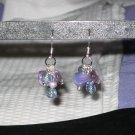 Purple Cluster Earrings