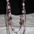 Purple Layered Necklace