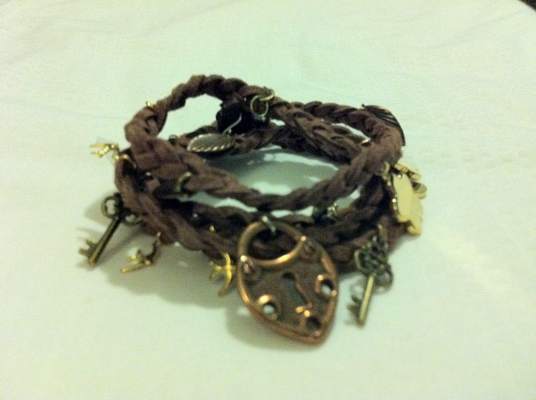 Braided Bronze Wrap Bracelet