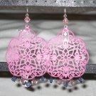 Pink and Purple Earrings