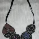 Crystallized Zipper Necklace