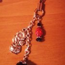 Lampwork Lady Bug Cell Phone Charm