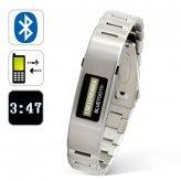 Bluetooth Bracelet w/Vibration Function + Digital Time Display