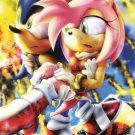 POSTER - 007 - 'Sonic rescuing Amy Rose from Eggman's exploding fortress'