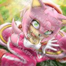 POSTER - 012 - 'Riders Amy Rose taking a sharp turn and taking the time to be cute at once'