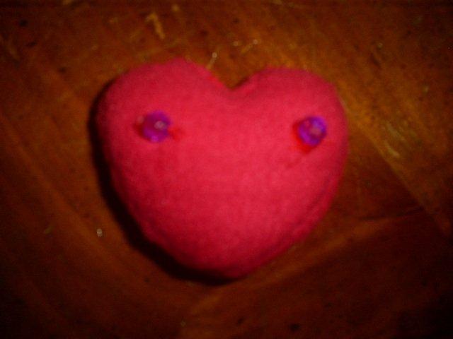 Hime heart hair clip
