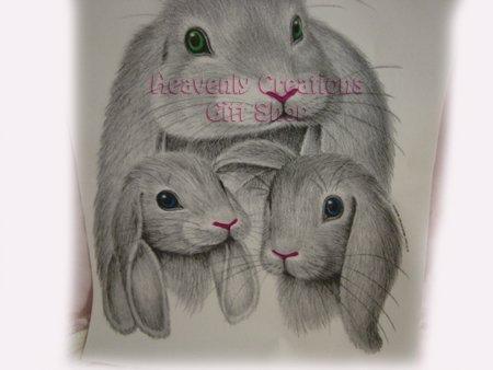 Heat Press Transfers -- Grey Rabbits (2 sheet)
