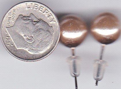 Light Copper Pearl Earrings