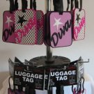 LUGGAGE TAG DIVA POLKA DOTS & PINK FASHION BAG ID TAG