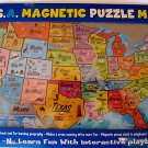 USA MAGNETIC PUZZLE MAP, PLAY-N-LEARN STATES AND CAPS
