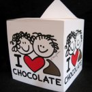 I LOVE CHOCOLATE DESK MEMO TEAR OFF NOTE PAD PAPER CUBE