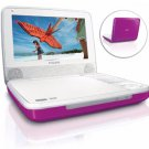 "Philips PET741C 7"" Portable DVD Player- Hot Pink"
