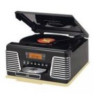 Crosley CR712-BK Autorama Turntable with CD Player and AM/FM Radio- Black