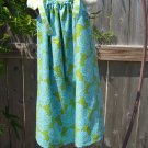 Blue and Green Damask Pillowcase Dress