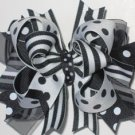 Black and White Boutique Hairbow