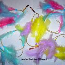 pastel feather hair clips