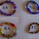 Glass and wood bracelets