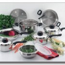 ForeverWareTM 15pc 9-ply Stainless Steel Cookware Set