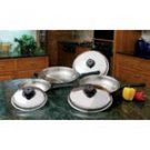6pc Stainless Steel Skillet Set