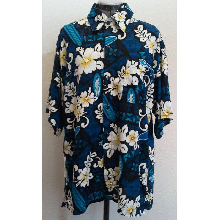Mens Royal Hawaiian Creations Hawaiian Shirt Short Sleeve Rayon Dark Blue XL NWT