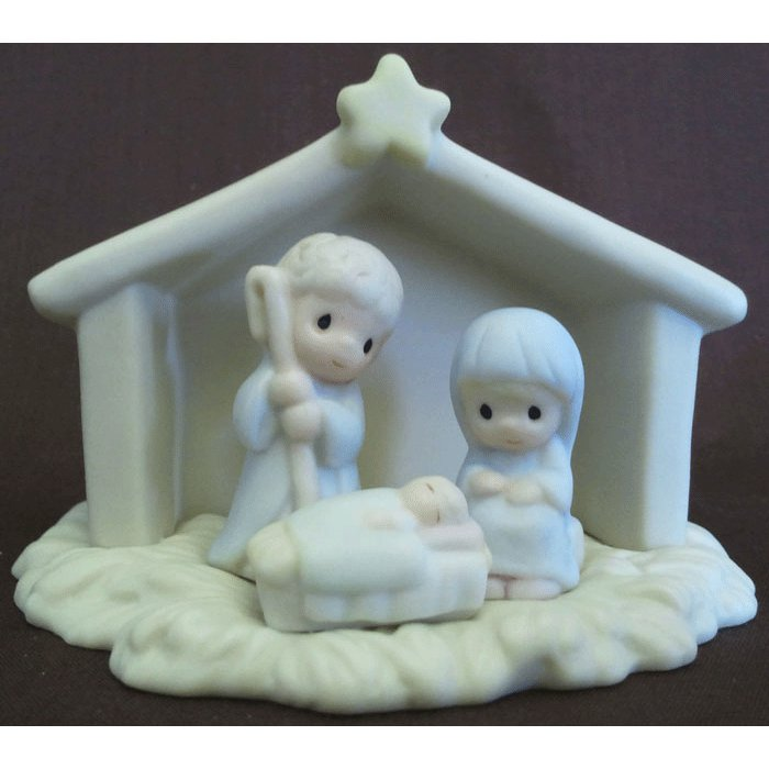 Sugar Town Nativity Precious Moments Figurine Signed G-Clef 1992 Enesco 529508 NIB