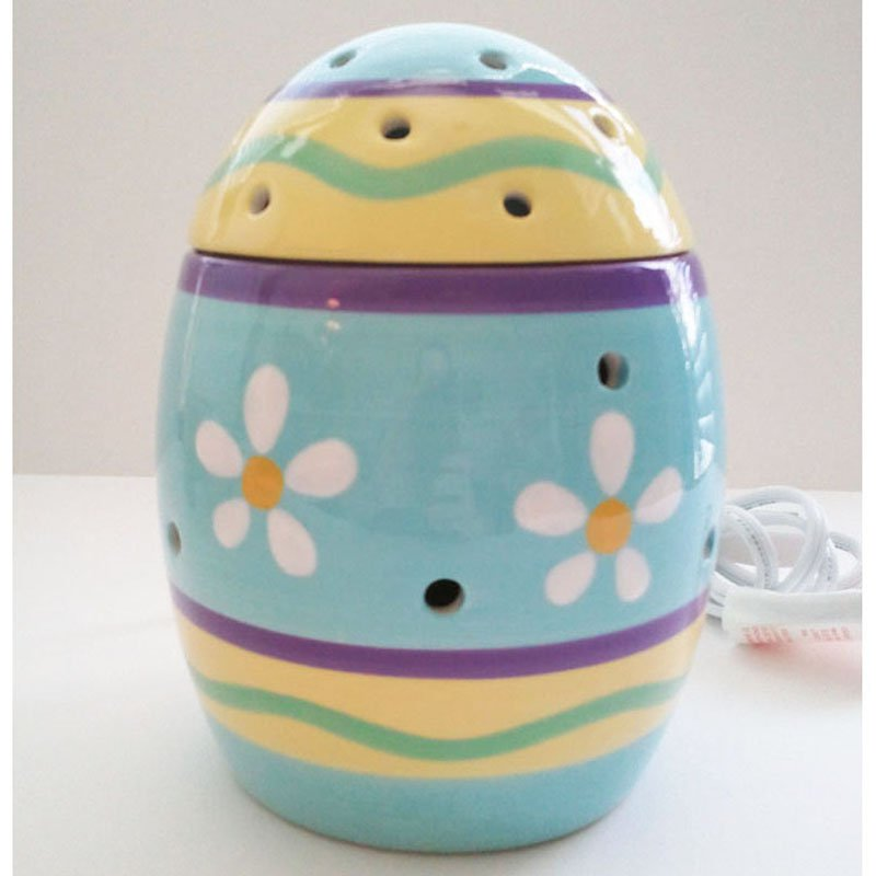 Authentic Scentsy Warmer Easter Egg Ceramic with Vented Lid 20-watt Bulb Included 6.5inH