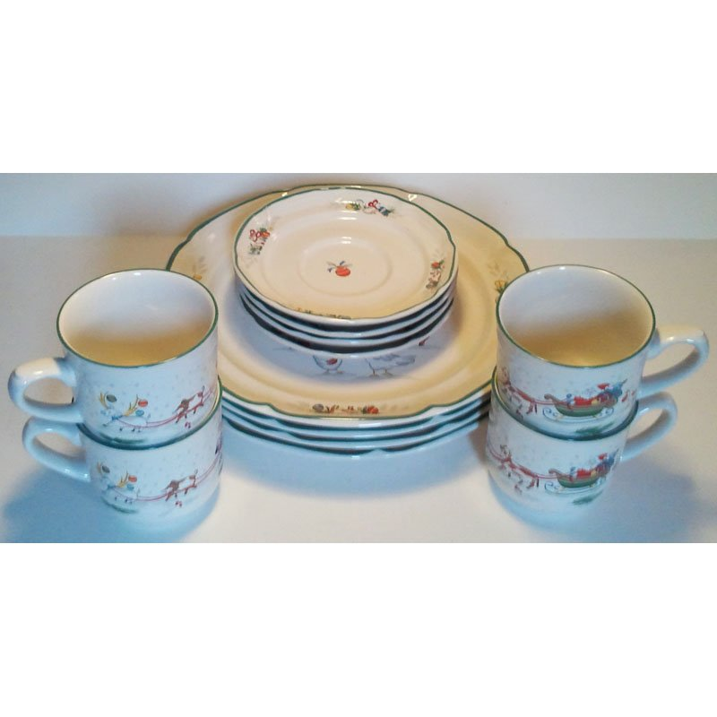 SOLD Dinnerware Set Country Christmas International China Co 8966-048 Japan Porcelain 12pc  sc 1 st  Purple Iris Plaza - eCRATER & SOLD Dinnerware Set Country Christmas International China Co 8966 ...