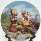 Hummel Little Explorers Collectors Plate Little Companions 23K Gold Trim Danbury Mint Registered